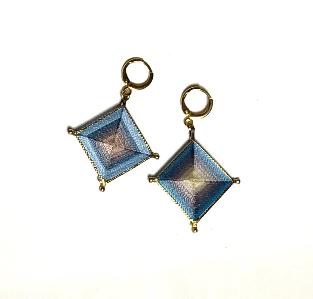 Diamond Shape Silk Earrings