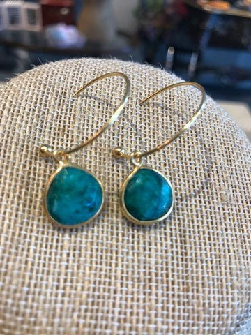 Bluestone & Gold Hoops