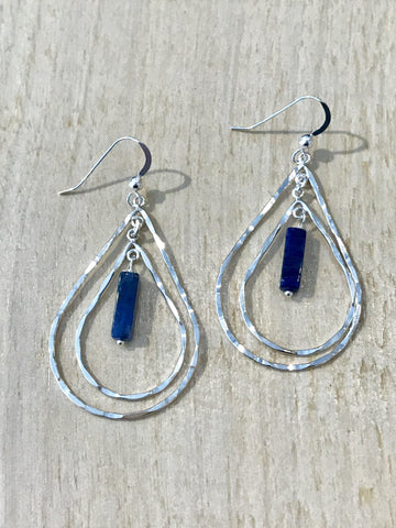 Double Teardrop Sodalite Earrings