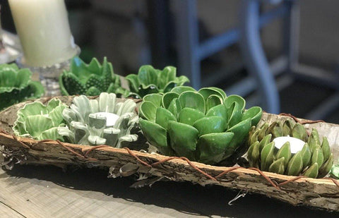 Succulent Tea Light Candleholders