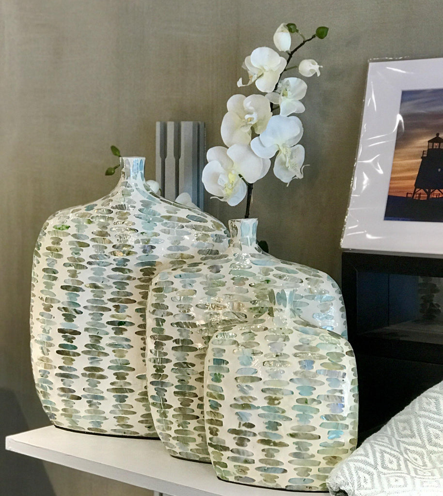 Mother of Pearl Vases