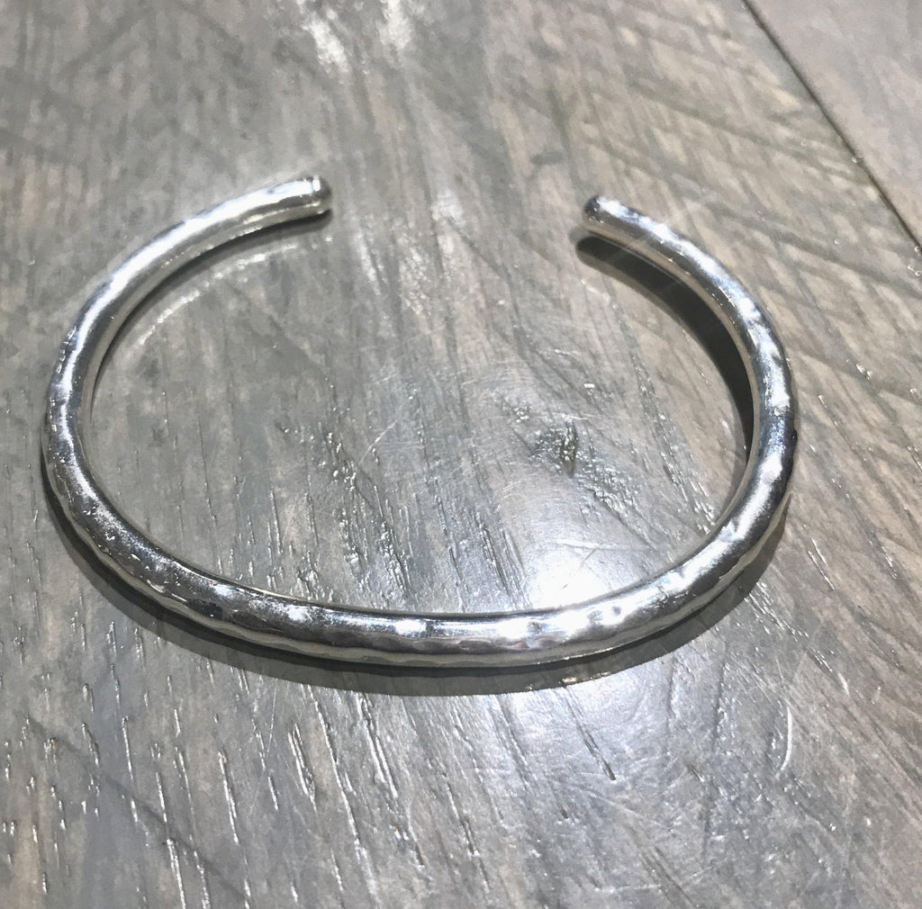 Sterling Hammered Cuff