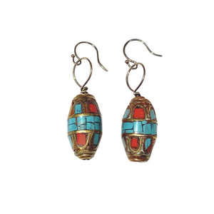 Nepalese Bead Earrings