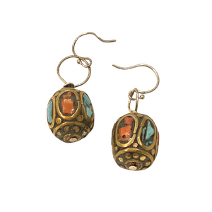 Nepalese Beaded Earrings