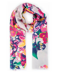 Summer Floral Print Scarf