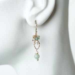 Gemstone Cluster Earrings - ALittleSomething
