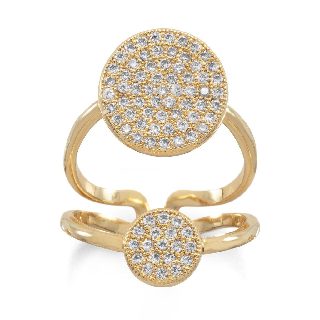 CZ Double Disc Ring