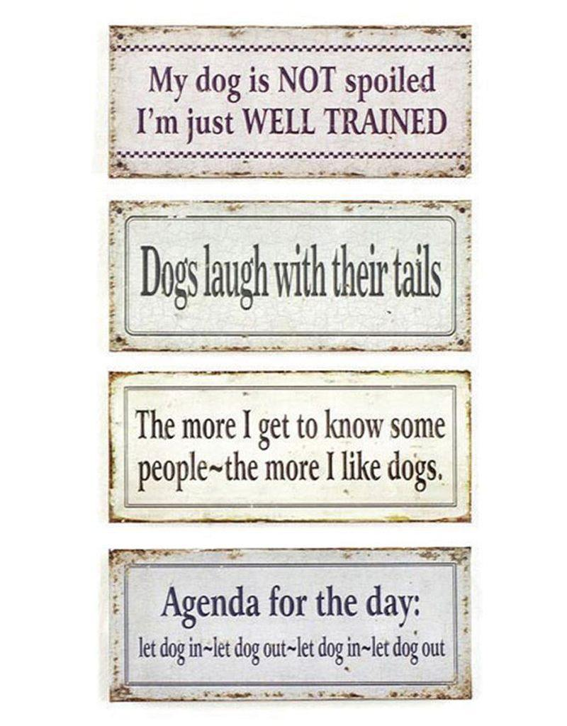 Dogisms: Tin Wall Hangings