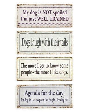 Dogisms: Tin Wall Hangings - ALittleSomething