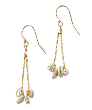 14K Gold Fill Earrings With Irregular Shaped Drops