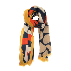Yellow Modern Geometric Scarf