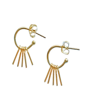 Hoop with Metal Fringe Earrings