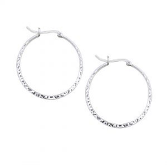 X Large Hammered Click Top Hoop