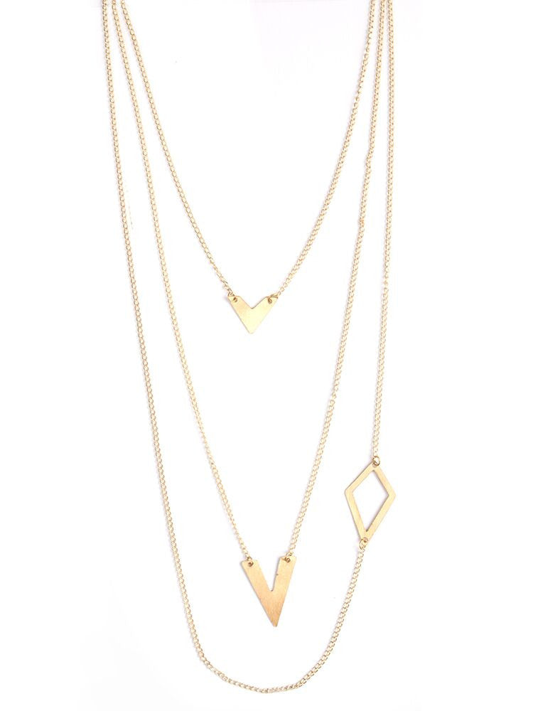 Links and Shapes Necklace