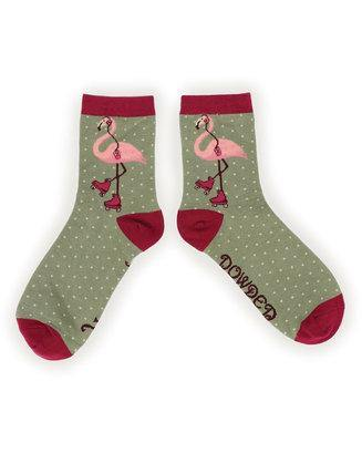 Rollerskating Flamingo Ankle Sock