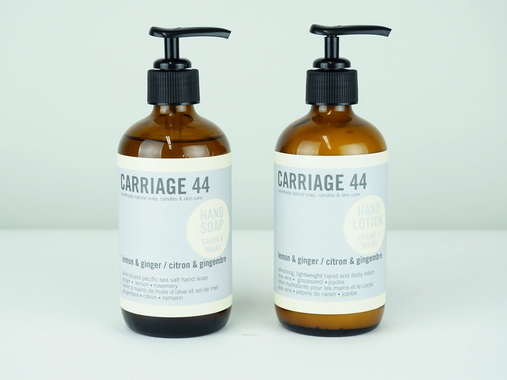 Lemon & Ginger Soap and Lotion Set