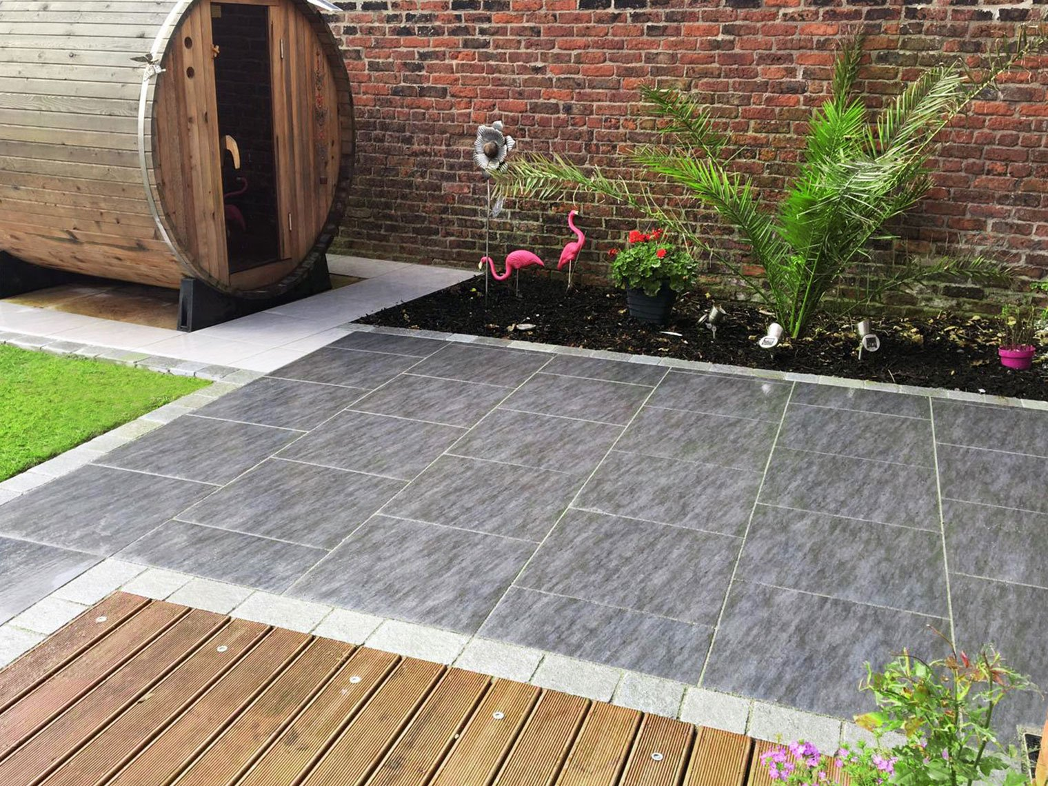 Landscape World Porcelain Paving in Grey