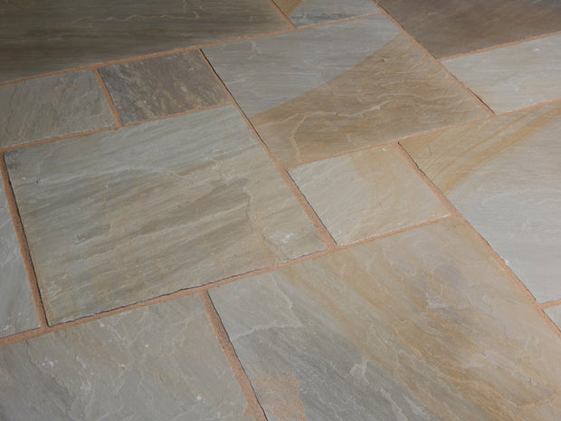 Ash-Bronze Natural Sandstone Patio Paving