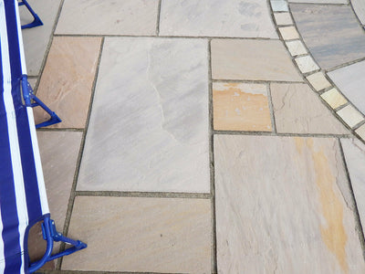 Autumn Brown Natural Sandstone Patio Paving