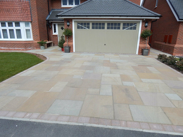 Raj Green Natural Indian Stone Paving