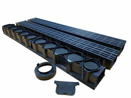 Black Drainage Channel Garage Pack