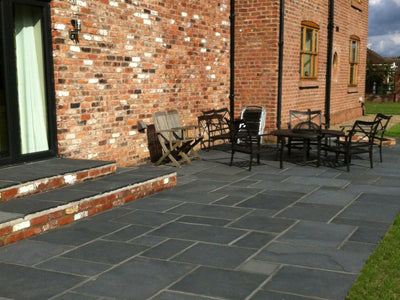 Black Natural Limestone Paving