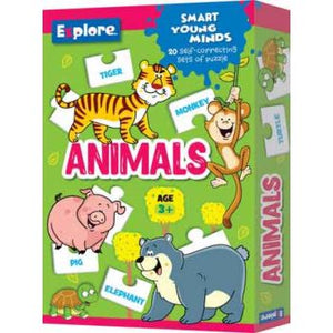 EXPLORE SELF CORRECTING PUZZLE SMALL - ANIMALS
