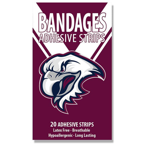 MANLY SEA EAGLES BANDAIDS 20 Pack