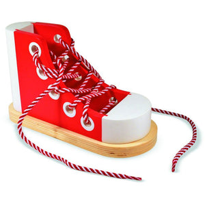 WOODEN LACING SNEAKER
