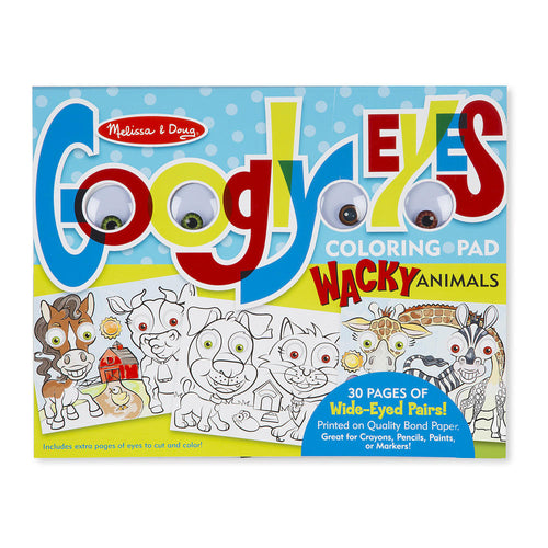 MANDD GOOGLY EYES COLOURING PAD - GOOFY ANIMALS