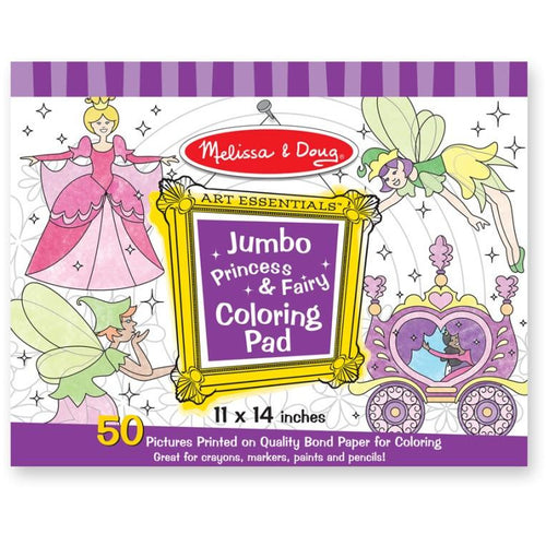 MANDD JUMBO COLOURING PAD PRINCESSES AND FAIRIES