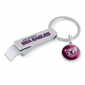 MANLY SEA EAGLES BOTTLE OPENER KEY RING