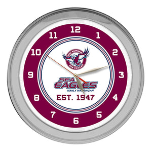 MANLY SEA EAGLES  NEON CLOCK