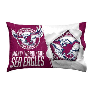 MANLY SEA EAGLES PILLOW CASE