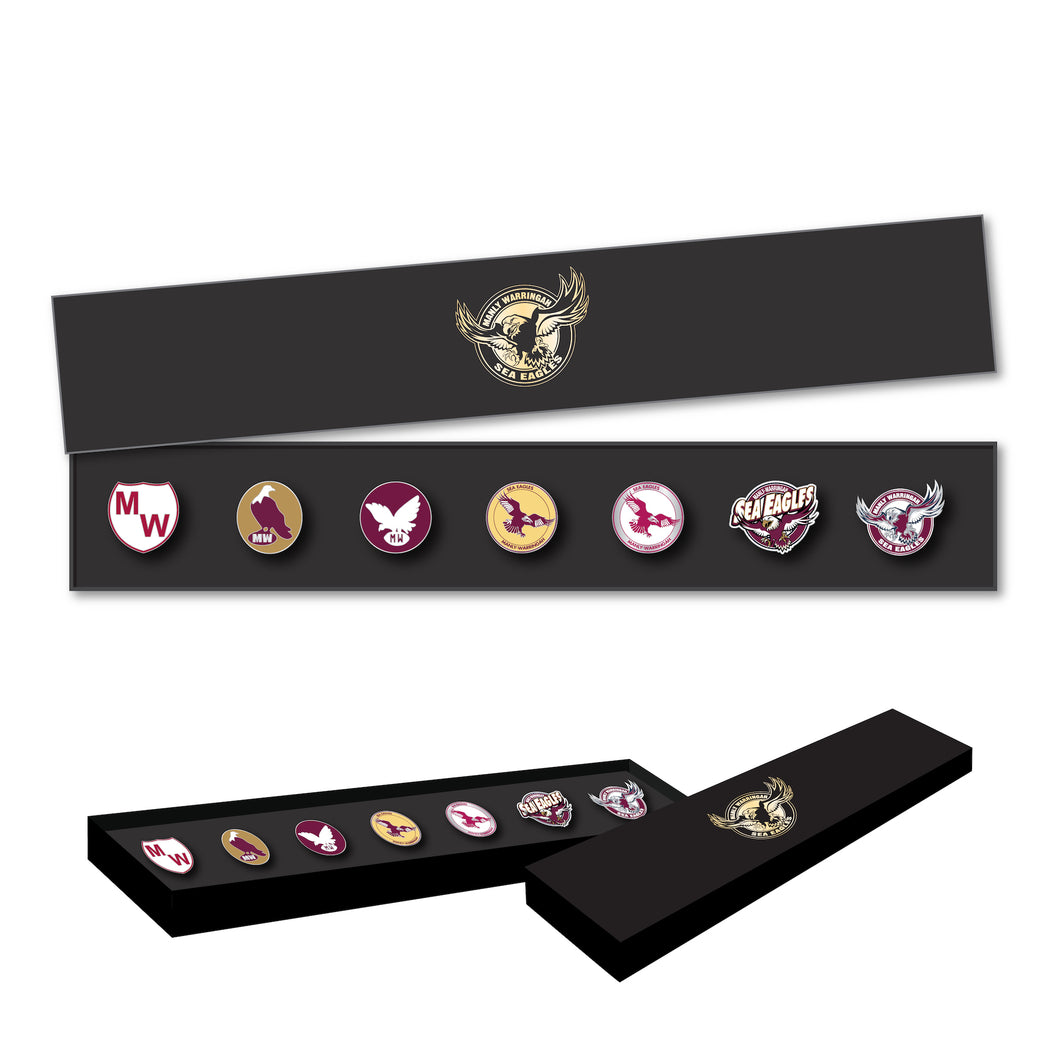 MANLY SEA EAGLES EVOLUTION PIN SET