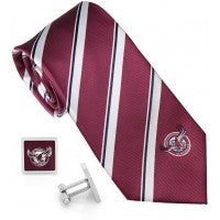 MANLY SEA EAGLES TIE & CUFFLINKS