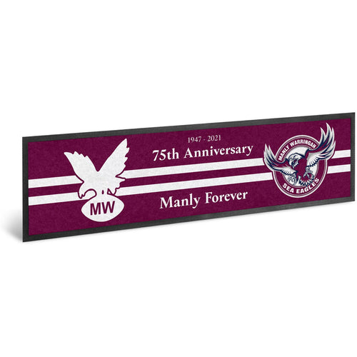MANLY SEA EAGLES 75th Anniversary Bar Runner