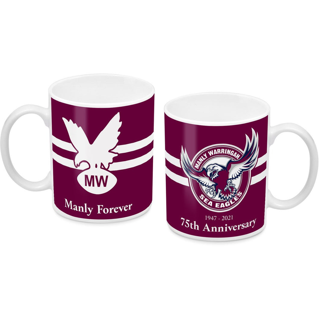 MANLY SEA EAGLES 75th Anniversary  Coffee Mug