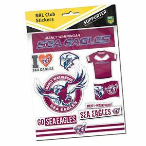 MANLY SEA EAGLES STICKER SHEET