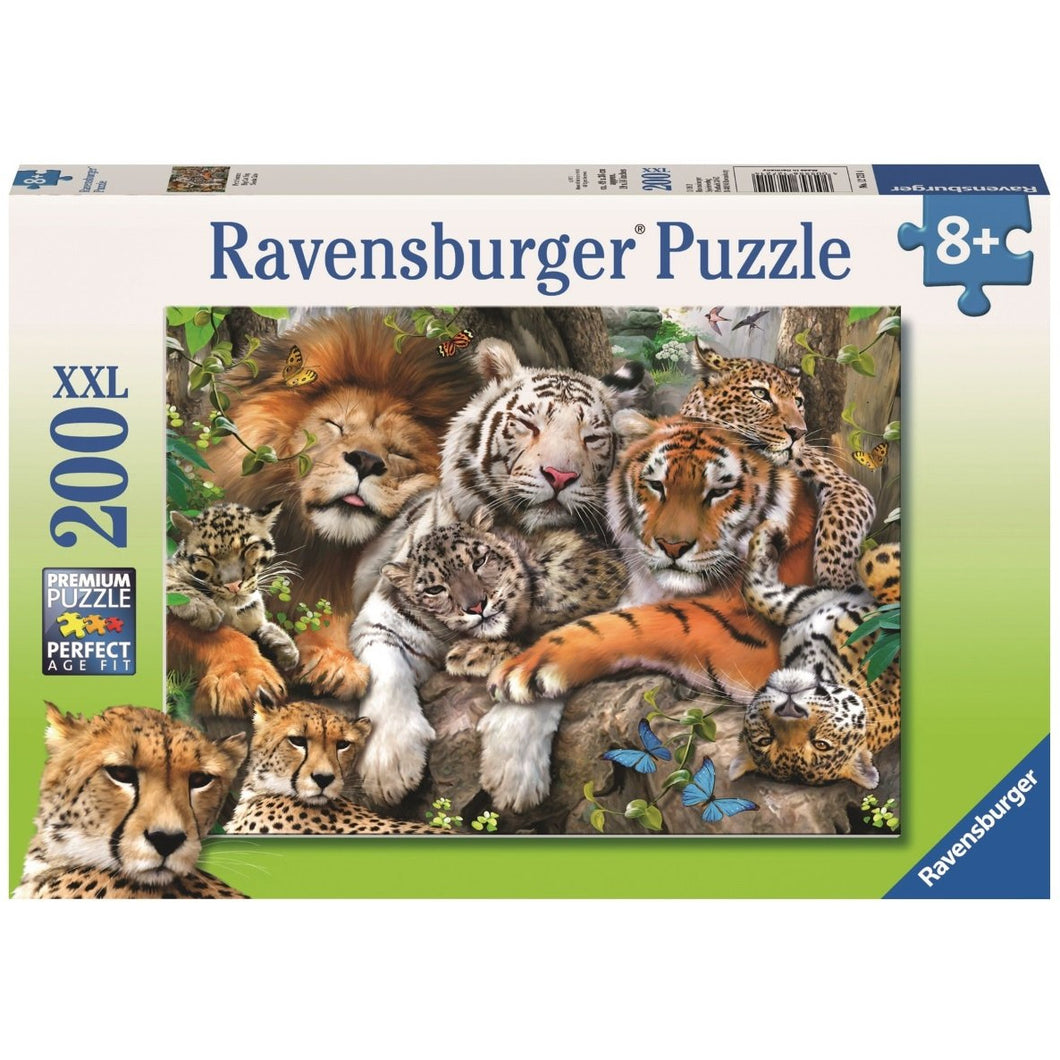 RAVENSBURGER PUZZLE BIG CAT NAP 200PIECE