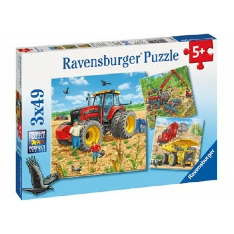 RAVENSBURGER PUZZLE GIANT VEHICLES 3X49 PIECE