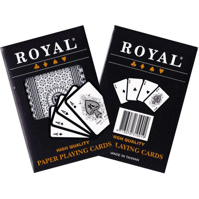 ROYAL SINGLE PACK PLASTIC COATED PLAYING CARDS