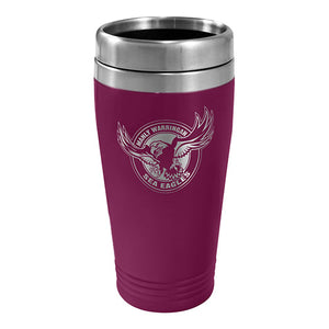 MANLY SEA EAGLES S/STEEL TRAVEL MUG