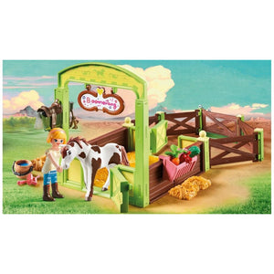 PLAYMOBIL SPIRIT - HORSE STABLE W/ ABIGAIL AND BOOMERANG