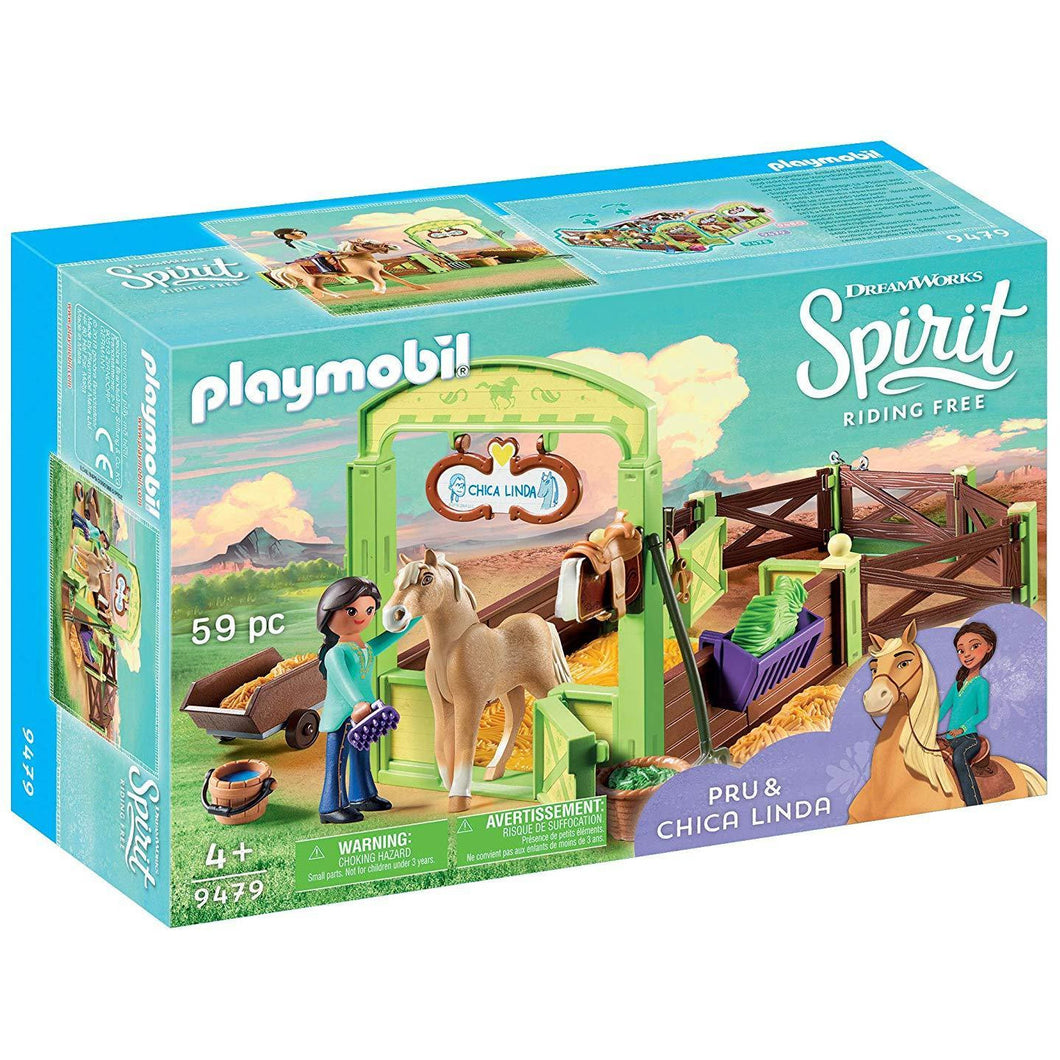 PLAYMOBIL SPIRIT - HORSE STABLE W/ PRU AND CHICA LINDA