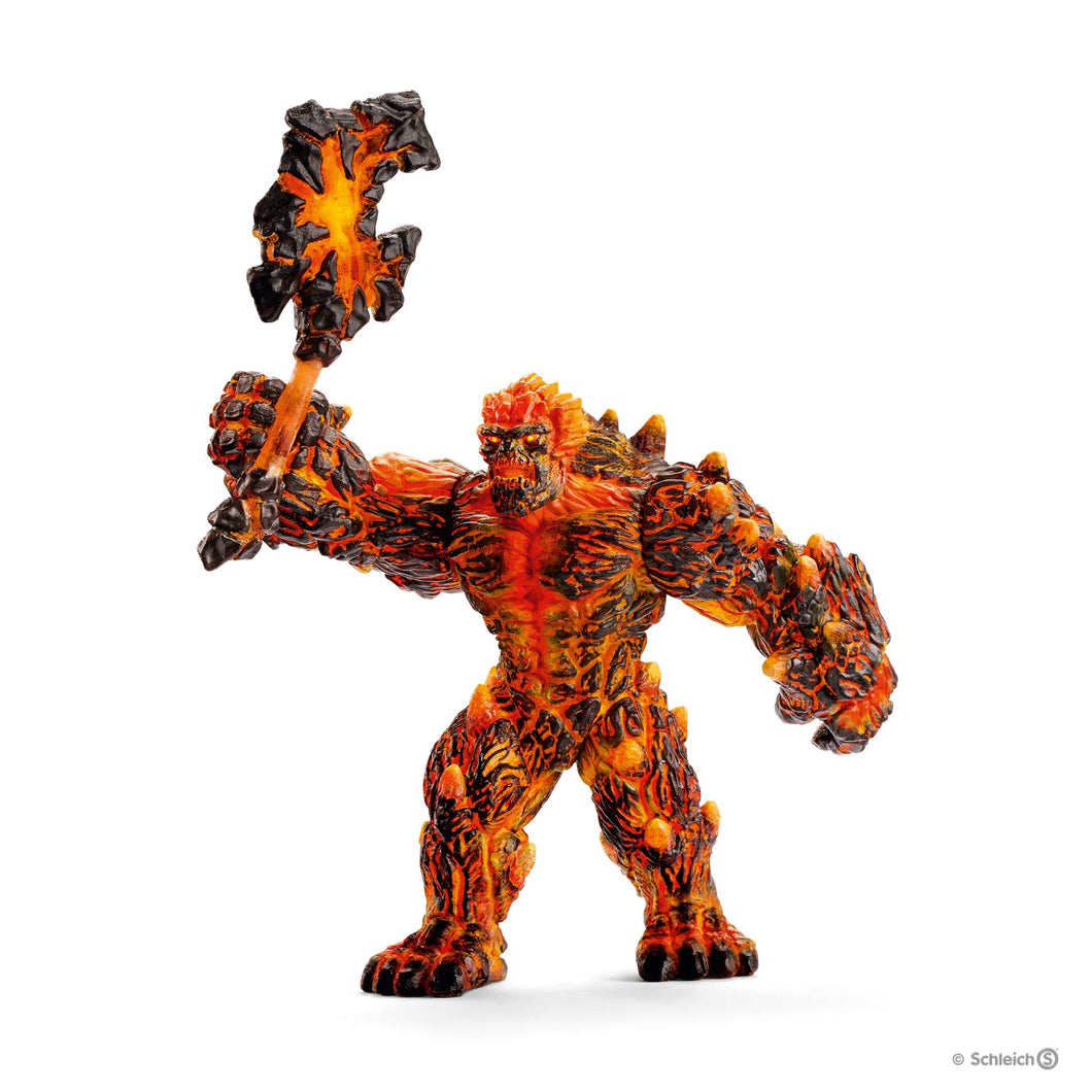 SCHLEICH- LAVA GOLEM WITH WEAPON