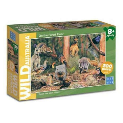 WILD AUSTRALIA ON THE FOREST FLOOR JIGSAW 200PC