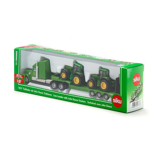 SIKU- LOW LOADER WITH JOHN DEERE