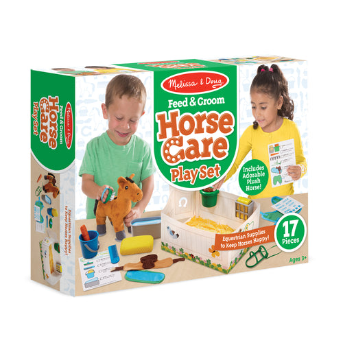 FEED AND GROOM PLAYSET HORSE CARE PLAY SET
