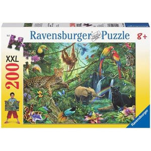 RAVENSBURGER - ANIMALS IN THE JUNGLE PUZZLE 200PC